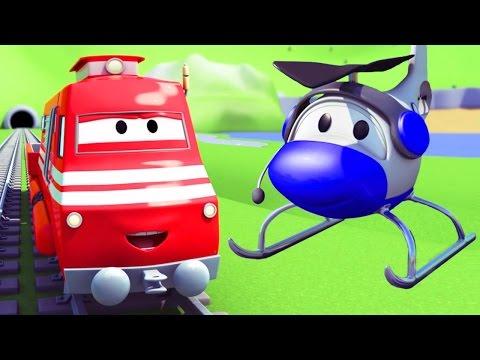 Troy o Trem e o Helicóptero na Cidade do Carro  desenhos animados