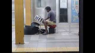 Bach: Badinerie from Orchestral Suite #2 in b minor BWV 1067 in NYC subway