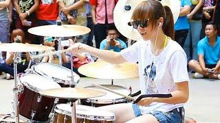 Drumer cantik bikin ulah lagi | drumer cewek skill dewa