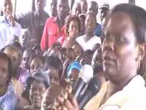 Muranga Town Business owners demonstrate against high Levies by county government