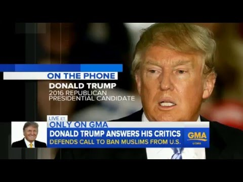 Donald Trump Full Interview With George Stephanopoulos Dec  8th '15...