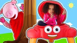 Peek a Boo Song   Nursery Rhymes & Kids Songs - Leah's Play Time