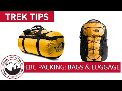Everest Base Camp Gear List & Packing Part 2 : Daypacks & Luggage | Trek Tips