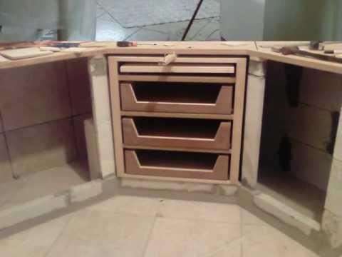 cucina in muratura di luca - YouTube
