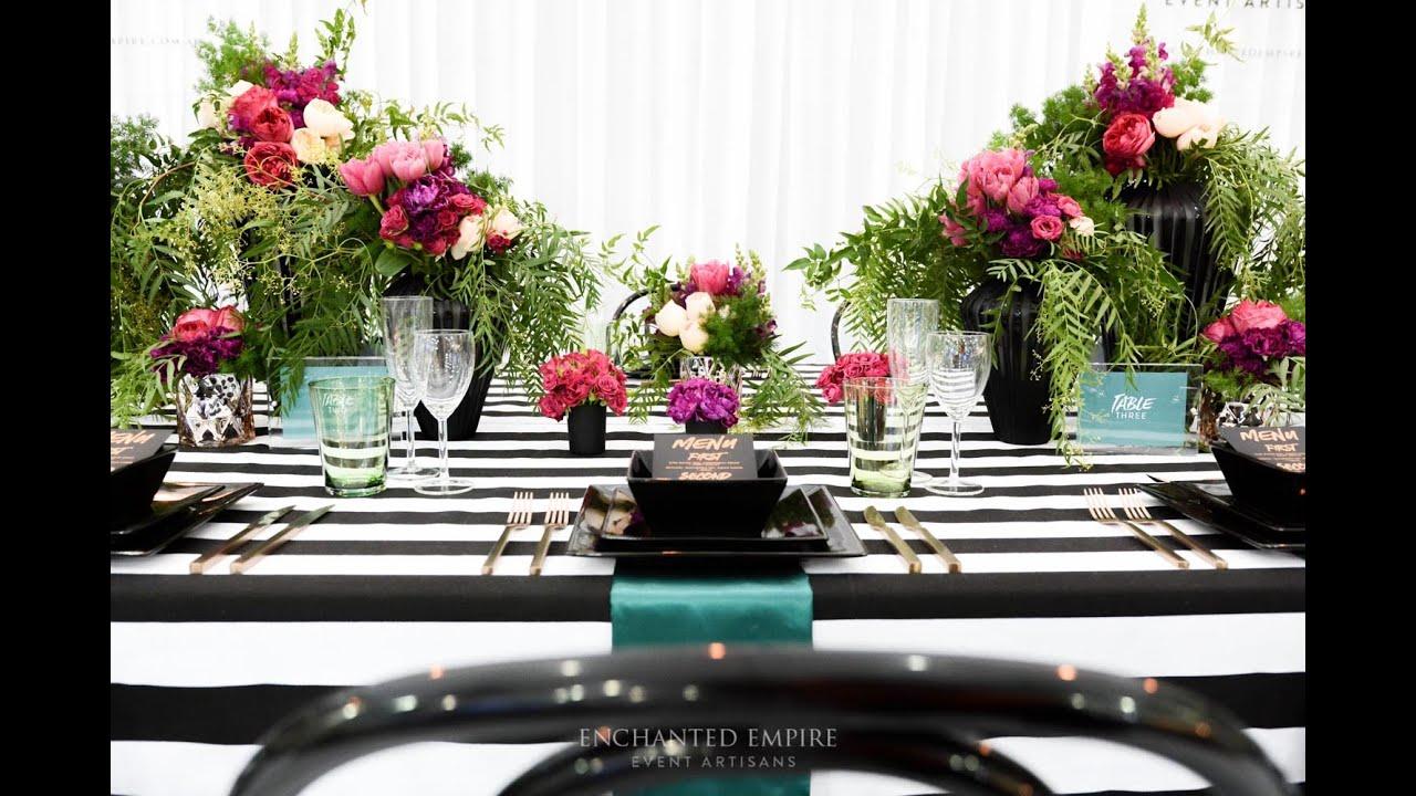 Modern Romance Monochrome Wedding Theme Styled By Enchanted Empire
