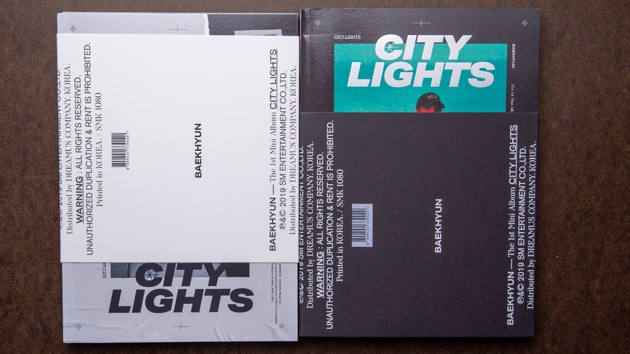 Unboxing Exo Baekhyun Mini Album Vol 1 City Lights Day