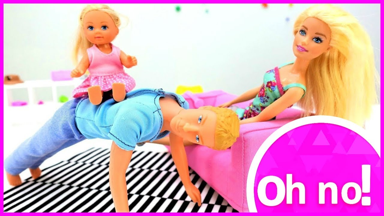9fbfca47c2be Barbie baby doll videos - Ken plays with a baby doll - YouTube