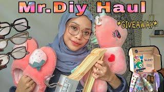 Mr.Diy Haul + GIVEAWAY !! + unboxing parcel from #Firmooeyeglasses & #Orkidcosmetics | Natasya Najwa