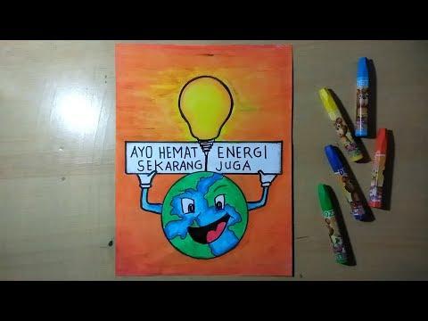 Cara Membuat Gambar Poster Hemat Energi Listrik Youtube