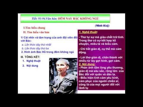 Văn 6 – Đêm nay Bác không ngủ (tiết 2) (13.04.2020)  – THCS Nguyễn Thái Bình