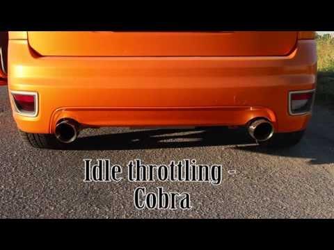 Ford Focus ST MK2/225 Stock vs Cobra non-res exhaust comparison