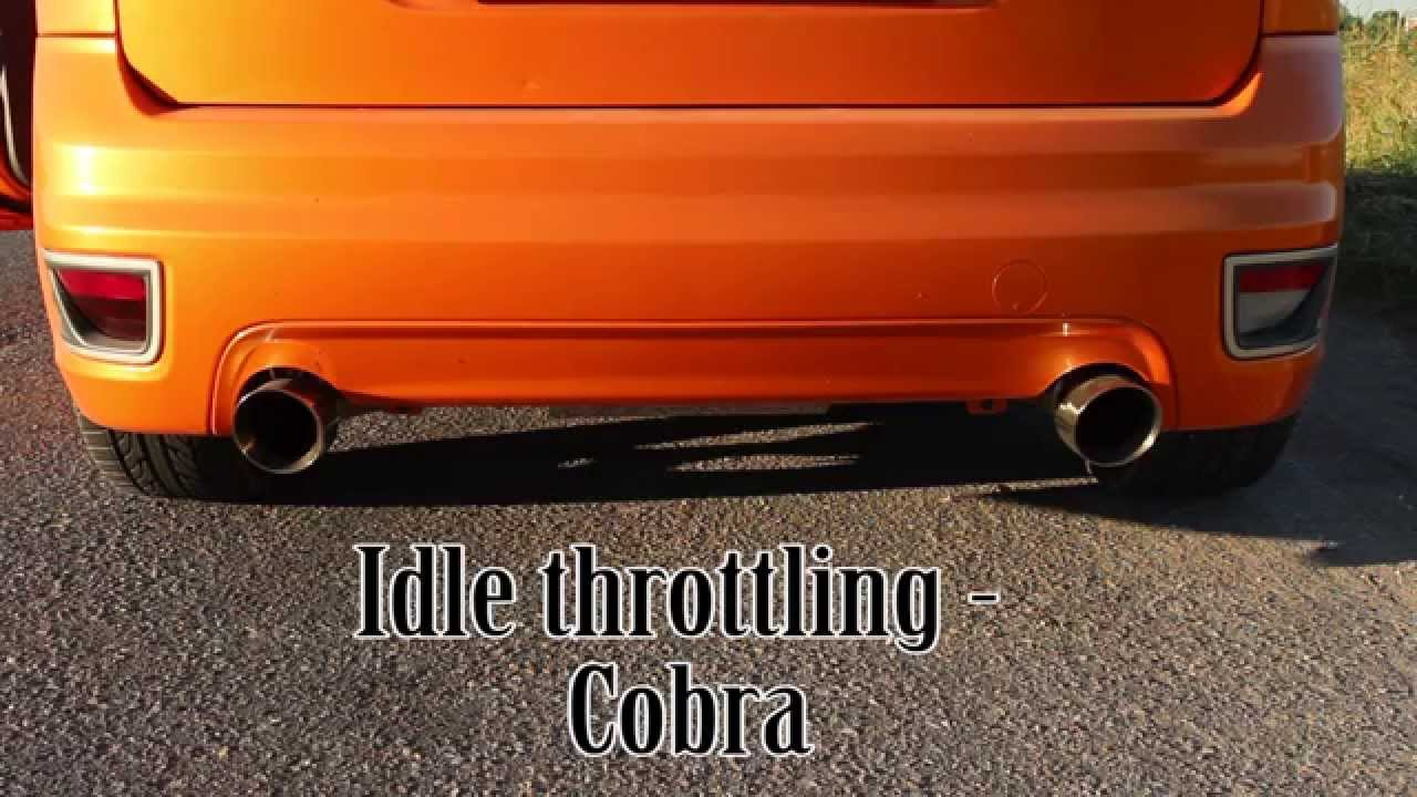 ford focus st mk2 225 stock vs cobra non res exhaust comparison