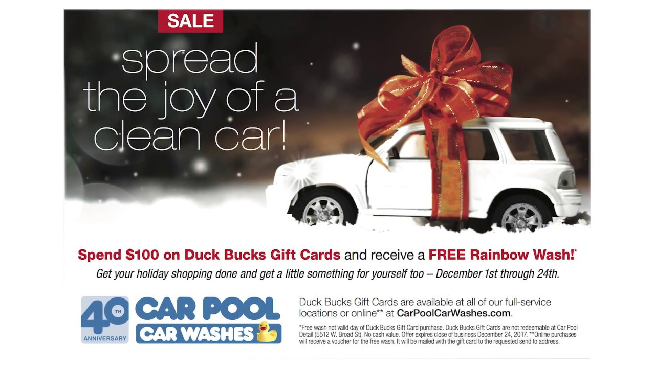 Car pool car wash duck buck gift card sale youtube car pool car wash duck buck gift card sale solutioingenieria Images
