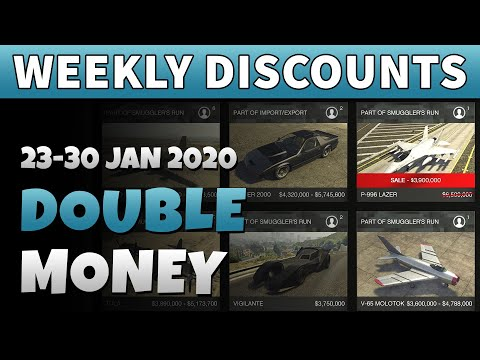 GTA 5 Double Money This Week | GTA ONLINE WEEKLY DOUBLE RP AND CASH BONUSES (Hydra 40% Discount)