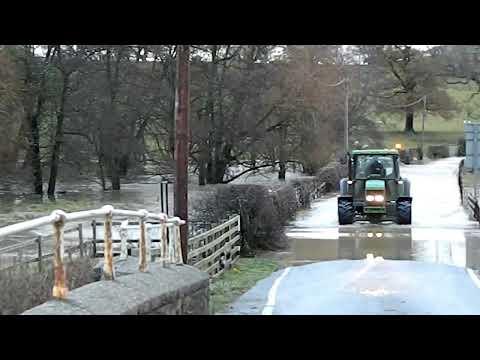 Flooding Floods Allt Goch To Tremeirchion Road Near St Asaph Denbighshire Wales 27.11.12
