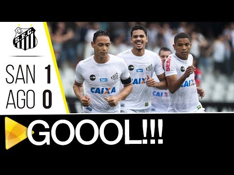 Santos 1 x 0 Atlético-GO | GOL | Brasileirão (22/10/17)