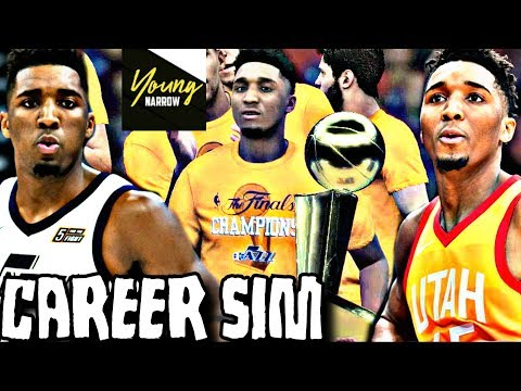 DONOVAN MITCHELL NBA CAREER SIMULATION ON NBA 2K18!!! A FUTURE HALL OF FAMER?!?