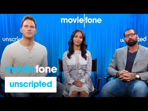 'Guardians of the Galaxy'  Unscripted  Chris Pratt, Zoe Saldana, Dave Bautista