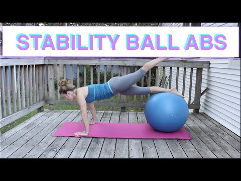 Stability Ball:  Just Abs