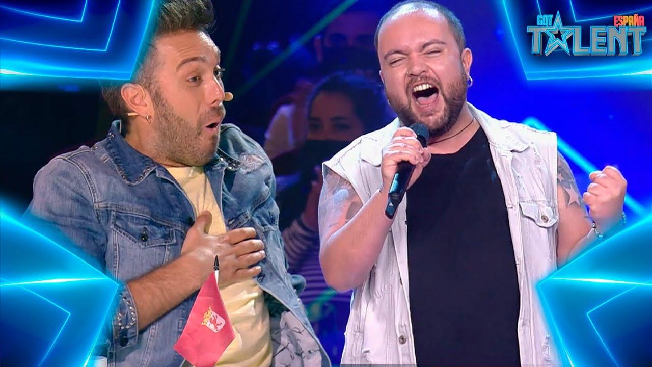 Download El SHOW HEAVY de este LEONÉS con un tema de QUEEN   Audiciones 7   Got Talent España 7 (2021)
