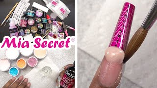 Trying Mia Secret Professional Acrylic Nail Kit
