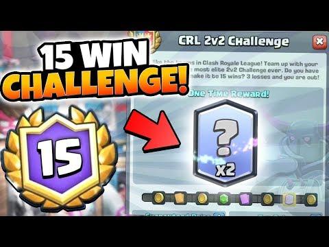NEW 15 WIN 2v2 CHALLENGE! DOUBLE LEGENDARY PRIZE!   Clash Royale   BEST 2v2 STRATEGY DECK TIPS!
