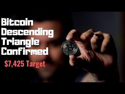 Bitcoin - Descending Triangle Confirmed!