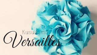 Repeat youtube video (HD) Origami Ball/ Kusudama Versailles (Krystyna Burczyk)