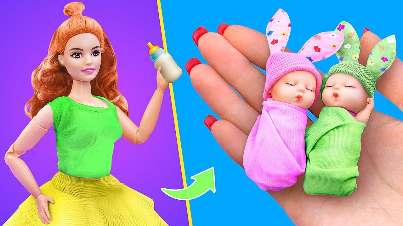 12 เคล็ดลับและสิ่งประดิษฐ์สำหรับตุ๊กตาทารก / ทารกตัวจิ๋ว, แป้งเด็ก, ผ้าอ้อม และอื่นๆ อีกมากมาย!