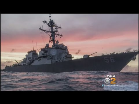 US Navy Destroyer And Merchant Ship Collide Near Singapore