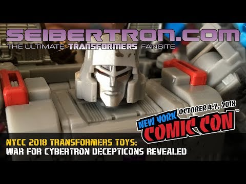 #NYCC 2018 War for Cybertron SIEGE Decepticons Revealed!!!