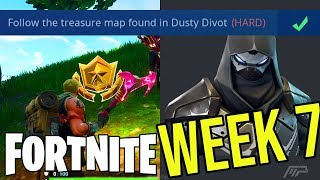 Season 5 Week 7 TREASURE LOCATIONS GUIDE In Fortnite Battle Royale! (AND S5 ROAD TRIP SKIN REVEALED)