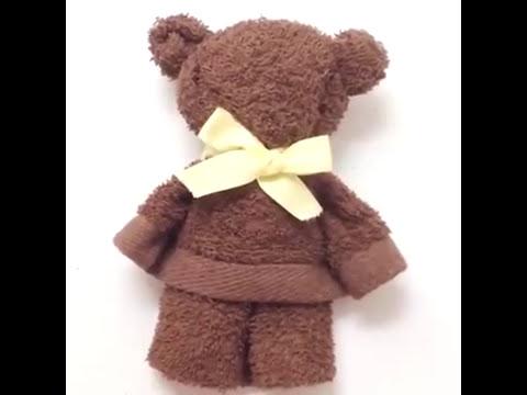 Hand Towel As A Bear