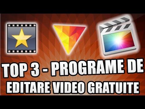 TOP 3 PROGRAME DE EDITARE VIDEO GRATUITE