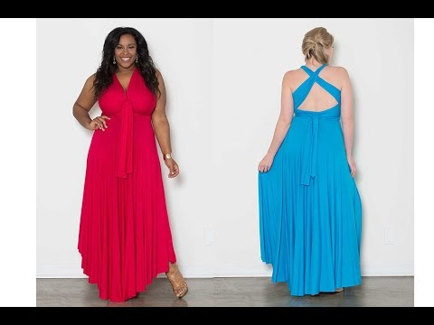 Eternity Maxi Convertible Plus Size Dress - YouTube
