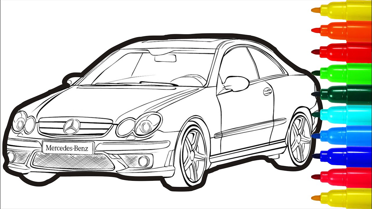 - Mercedes-Benz Coloring Pages Car Colouring Pages For Kids - YouTube
