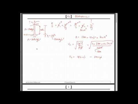 5:2 Fluid Dynamics - Bernoulli Equation, Conservation of Mass, Worked Examples