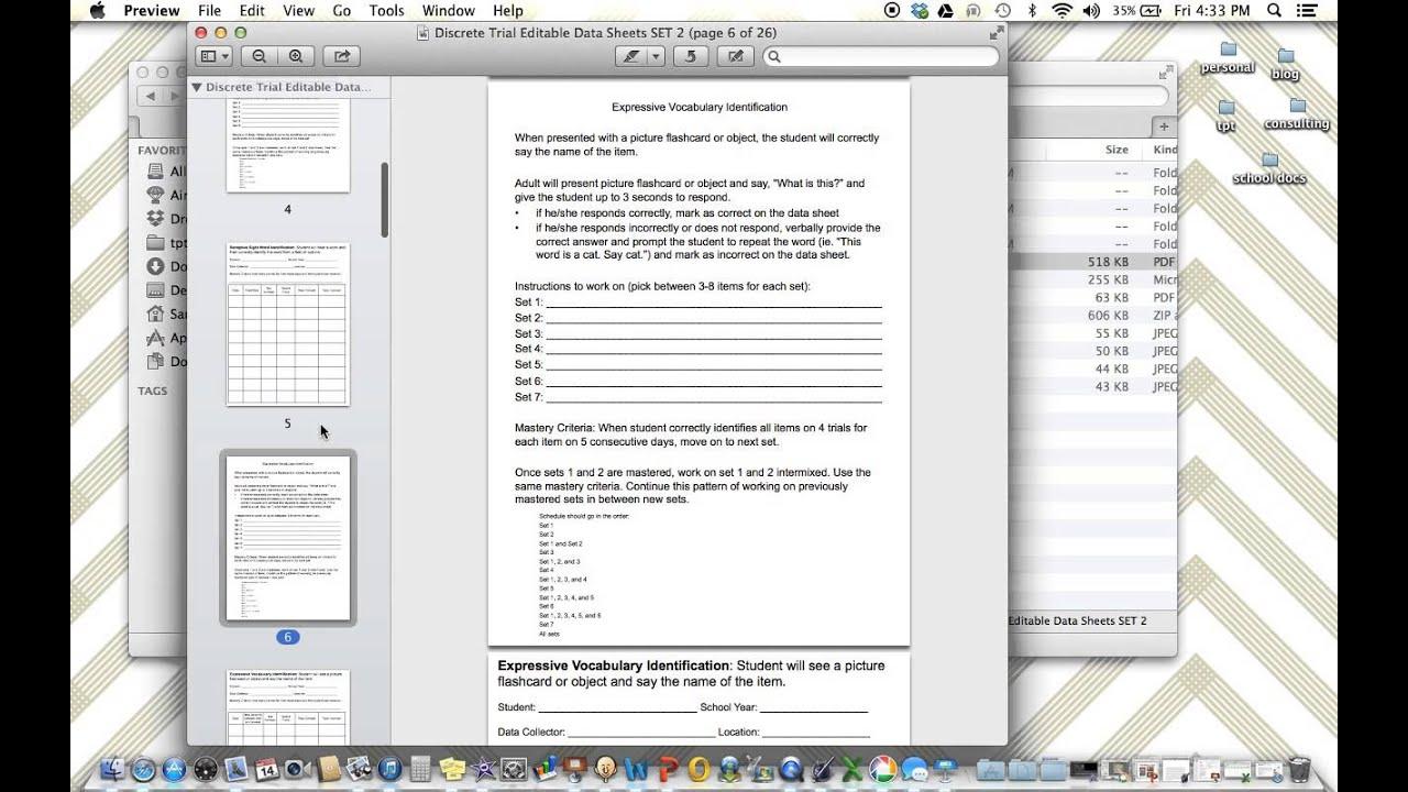 Discrete Trial Data Sheets & Programs Guides - The Autism Helper