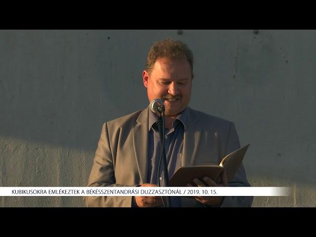 Kubikosokra emlékeztek a békésszentandrási duzzasztónál (2019. 10. 15.)