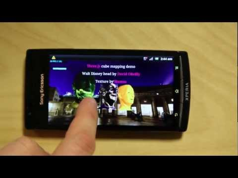 WebGL demo on Xperia arc S