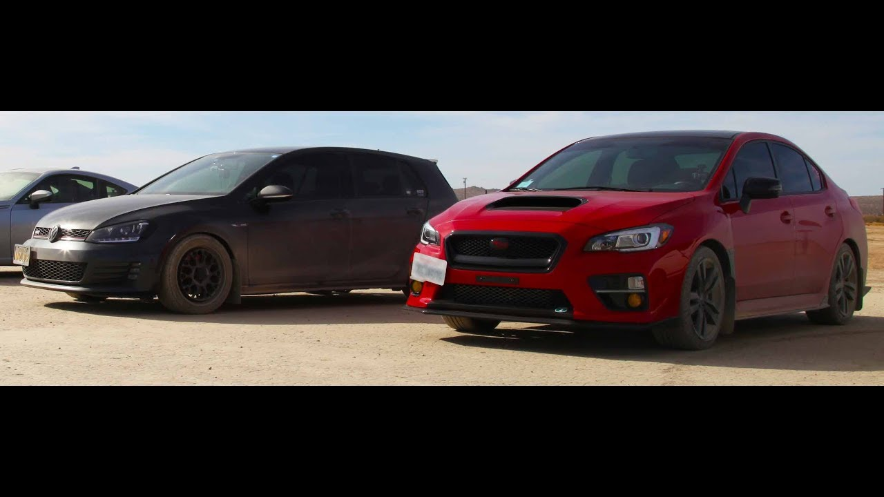 Wrx Vs Gti >> Gti Vs Wrx Drag Race Stock Vs Stock