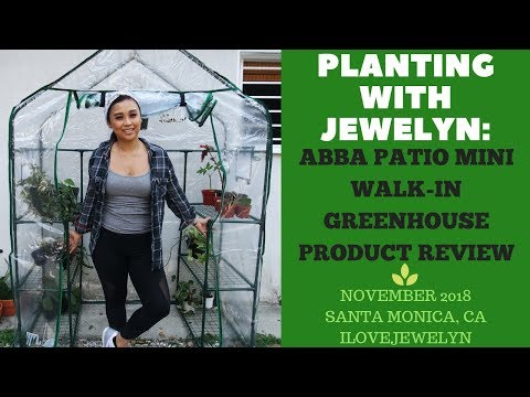 Planting With Jewelyn: Abba Patio Mini Walk-in Greenhouse Product Review |Nov 2018| ILOVEJEWELYN
