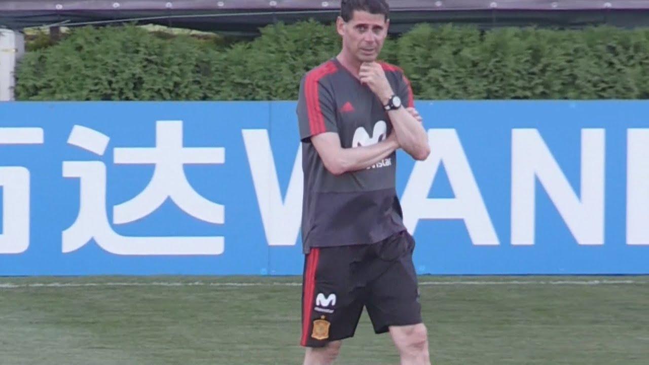 f13b55db97 Hierro comanda primeiro treino a dois dias da estreia da Espanha na Copa