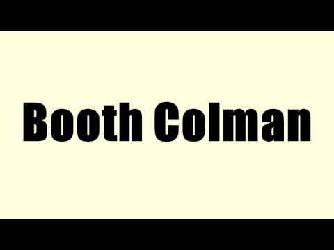 Booth Colman
