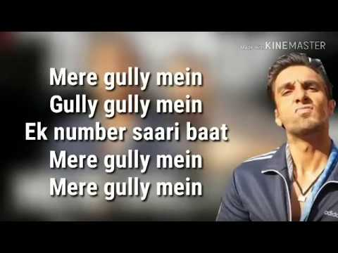Mere Gully Mein Lyrics Video | Gully Boys |