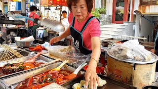 Popular snacks in the Korea market - korean street food