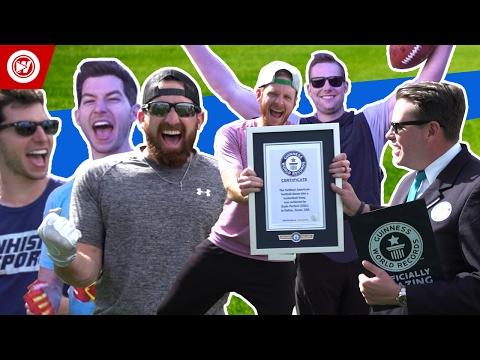 Dude Perfect Football World Record Edition | Bonus Video