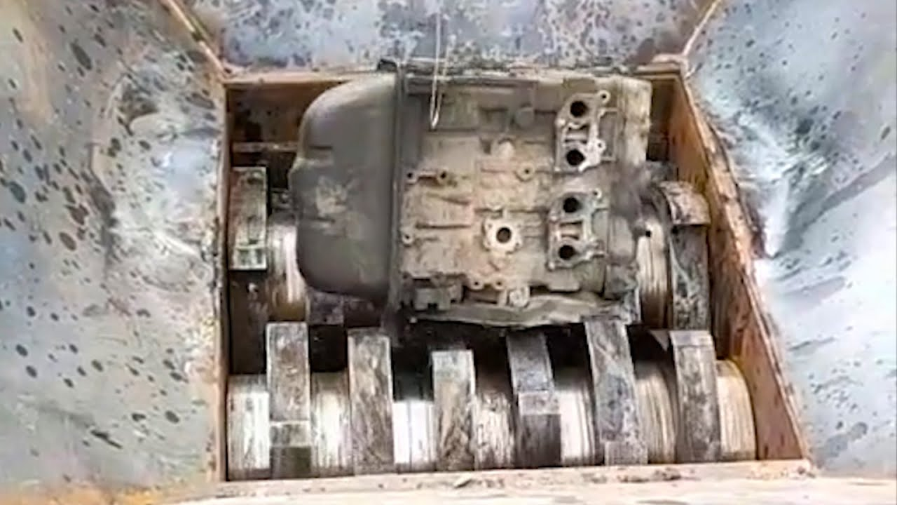 Car Engine vs Crushing Machine II