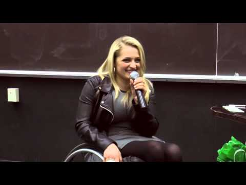 Actress Ali Stroker at Wagner College