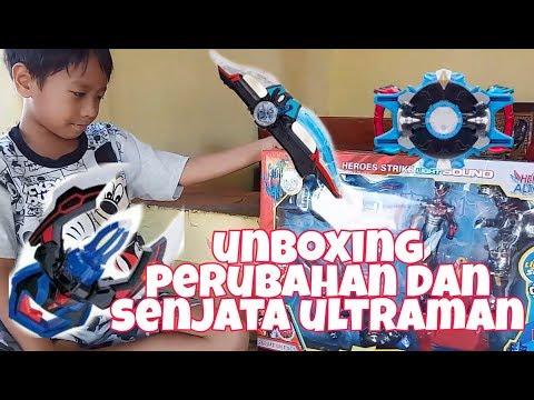 Unboxing Perubahan Ultraman Rosso | Cakar Ultraman Geed | Pedang Ultraman Blue | mainan ultraman